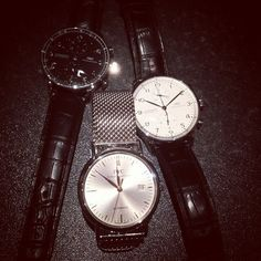 Iwc Chronograph, Portuguese, Black White, Steel, Watches, Instagram Posts, Silver, Accessories, Black And White