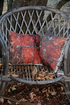 naturally dyed lovely pillows