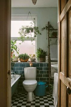 Bathroom plants. design is mine: SPACE: ANNA POTTER'S HOME.