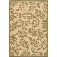 Martha Stewart Living Paradise Cream/Green 5 ft. 3 in. x 7 ft. 7 in. Area Rug-MSR4260-14-5 - The Home Depot
