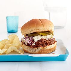 BBQ Brisket Sandwiches with Quick Slaw Recipe - Woman's Day