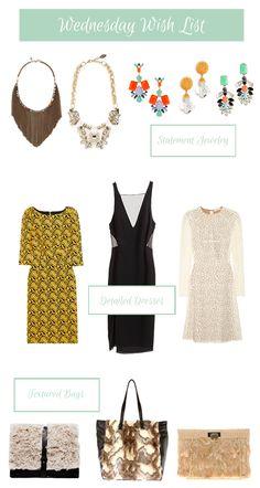 My WishList for the week on ComfyCozyCouture.blogspot.com  #lace #fur #elinkling #baublebar #jcrew