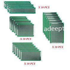 40 pcs Double-side Protoboard Circuit Prototype DIY PCB Board 2x8 3x7 4x6 5x7cm #Adeept