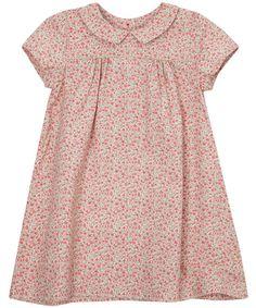 Poppy print baby dress