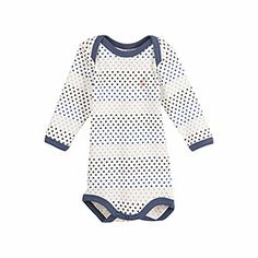 $27.00 Petit Bateau US Official Online Store, Unisex baby long-sleeved bodysuit in star print cotton, lait multico, Baby : The Unisex Collection, 3...