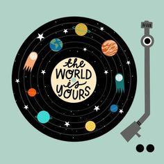 The World is Yours Nursery wall art record player print vinyl kids room nursery decor kids prints hip-hop baby hip hop kids art Nas Home Bild, Record Wall Art, Nursery Wall Art, Nursery Decor, Baby Decor, Cd Art, Aesthetic Painting, Retro Wallpaper, Art Mural