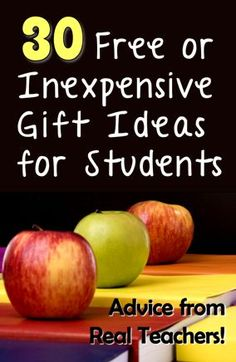 30 Free or Inexpensive Gift Ideas for Students