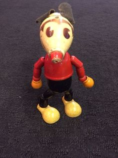 dca6a3ab6fb51 1930 S Disney Mickey Mouse Jointed Wooden Toy Figure. Rare Classic Mickey  Mouse