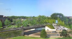"""Chicago On-Track To Break Ground On Elevated Parkway - """"the Bloomingdale Trail and Park will primarily be a green transport artery, connecting the neighborhoods... while also joining the blue branch of the 'L' line with two Metra commuter rail lines. Boosting its credentials as a piece of infrastructure, it will have both a pedestrian path and aseparate bicycle track, unlike the High Line where cycling isn't permitted."""""""