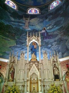 """One of the 19th century """"Painted Churches"""" in Central Texas. They were built by the Czech and German immigrants. The exteriors are plain, but the interiors are so beautifully painted. (2nd of two pins)"""
