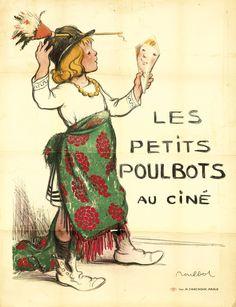 Original Vintage Poster Petits Poulbots French Caricature 1890s Children Humor  #ArtNouveau