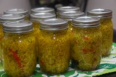 Chow Chow Relish: a southern style relish that has long been a favorite as a topping on pinto beans, hot dogs, black-eyed peas, hamburgers, collards, and other greens