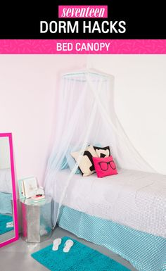 Dorm dorm room and diy fabric headboard on pinterest for Room design hacks