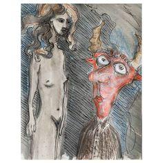 Girl and devil⠀ ⠀  #devil #art #artist #artnews #fantasy #dreamscape #abstractart #painting #kölnkunst #artcologne #artgallerie #drawing #painter #mixedmedia #zeitgenössischekunst #kölnkunst #künstler #corelpainter #illustrator #illustration #figurative #figurativeart #figurativeartist