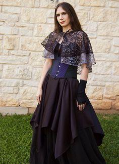 Black Striped Pixie Skirt Renaissance Halloween Costume