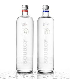 Sourcy Still and Sparkling bottled waters Agua Mineral, Mineral Water, Water Bottle Labels, Vodka Bottle, Water Bottles, Bottle Images, Water Branding, World Water, Bottle Packaging