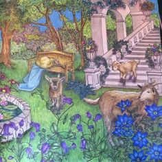 Page 1/2 #rhapsodyintheforest #egusakanoko #prismacolorpremier #bayan_boyan #colouring #colouringbook #addictioncolour