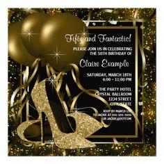 23 black and gold invitations ideas