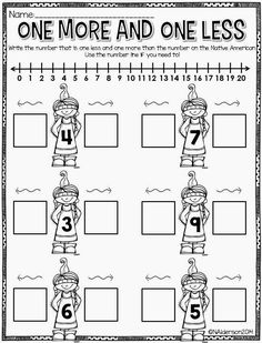 I love this math page! Such good number line practice!