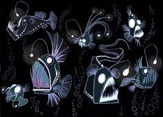 Beatrice Borghini - Abyssal Fish Cool black Light poster idea