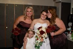 Girls Dress in Truffle from David's Bridal.