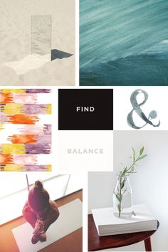 Ayurveda & Yoga brand mood board // Design Loves Company