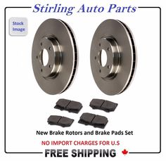 Both Left and Right 2008 For Dodge Sprinter 2500 Front Set Stirling Ceramic Brake Pads with 2 Years Manufacturer Warranty