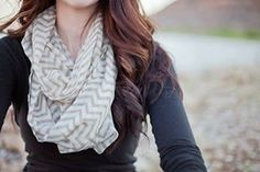 I love these kinds of scarfs. Chevron Infinity Scarf - $6.99!