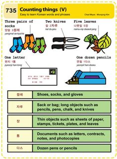 735 Easy to Learn Korean: Counting things (V)