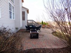 backyard patio idea --for next to deck