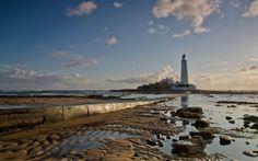 пейзаж, маяк, море