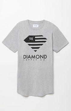 Diamond Flag Scallop T-Shirt