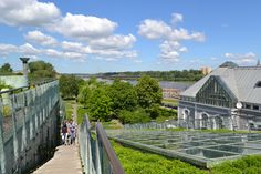 Botanical garden on the roof of the library in Warsaw
