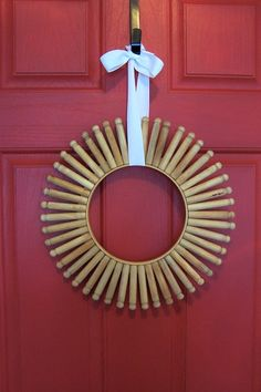 Vintage Clothespin and Embroidery Hoop Wreath Tutorial