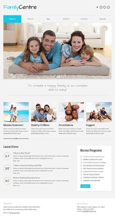 Family Center Joomla Templates by Svelte Family Website, One Page Website, What Do Men Want, Mom Died, Flying With Kids, Joomla Templates, Baby Store, New Parents, Healthy Kids