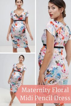 I love maternity fashion and I love maternity dresses! Especially floral maternity dresses. This dress is so cute and a great way to rock your baby bump! Click this pin to find it at ASOS.com! | #affiliate | women's fashion