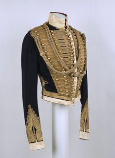 holdhard:  Officer's pelisse, Lieutenant Walter Stephens Brinkley, 11th (Prince Albert's Own) Hussars, 1848 National Army Museum