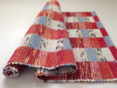 Autumn Clouds Rag Rug Hand Woven Colorful by WarpedforGood