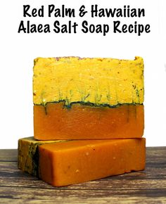 This homemade red palm soap recipe is made using virgin red palm oil which is naturally high in Vitamin E and antioxidants and mineral rich Hawaiian Alaea Red Sea Salt.