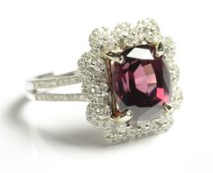 Rhodolite garnet and diamond ring. Estimated to sell between $900-1200 in the March 31, April 1 & 2 auction.