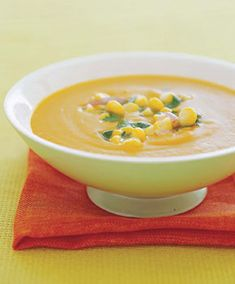 Calabaza, Corn, and Coconut Soup