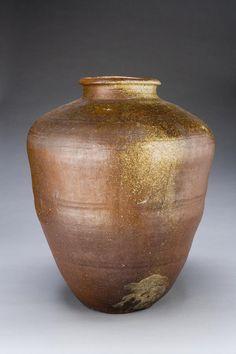Large Jar | Japan Edo period (1615–1868) 17th or 18th century Stoneware with wood-ash glaze (Shigaraki ware) 24 3/16 x 19 5/16 in. (61.5 x 49 cm)
