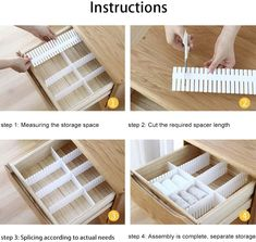Cardboard Drawers, Ikea Drawers, Plastic Drawers, Sock Storage, Diy Storage, Storage Spaces, Kitchen Utensil Organization, Sock Organization, Organisation Hacks