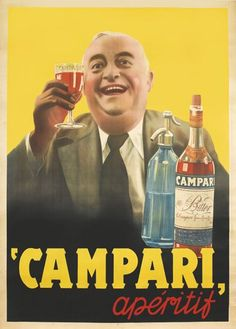 Campari aperitif poster, c 1938 | Swann Auction Galleries