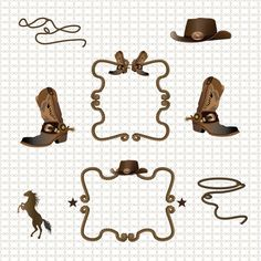Free Printable Clip Art Borders | Barbed Wire Cowboy Rodeo border ...
