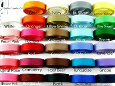 3/8 solid ribbon available in over 25 colors!  Hairbow Supplies, Etc. - Your One Stop Shop for Hair Bow Supplies!