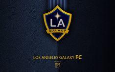 Scarica sfondi Los Angeles Galaxy FC, 4k, American club di calcio, MLS, grana di pelle, logo, stemma, Major League Soccer, Los Angeles, California, USA, calcio, MLS logo