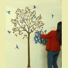 Garden Birds Stencil