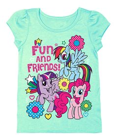 Look at this Teal My Little Pony 'Fun and Friends' Cap-Sleeve Tee - Toddler on #zulily today!