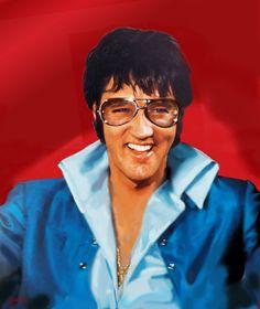 Painting of Elvis Presley by Betty Harper